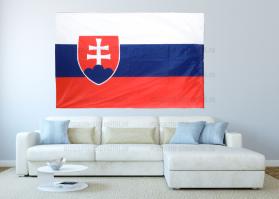 Большой флаг Словакии 140x210 см