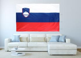 Большой флаг Словении 140x210 см