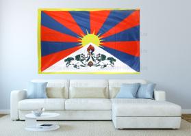 Большой флаг Тибета 140x210 см