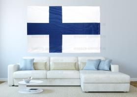 Большой флаг Финляндии 140x210 см