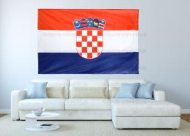 Большой флаг Хорватии 140x210 см