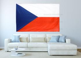 Большой флаг Чехии 140x210 см