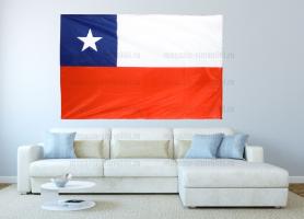 Большой флаг Чили 140x210 см