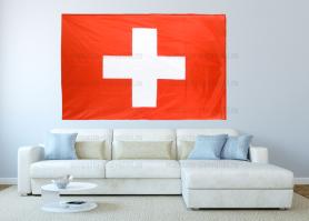 Большой флаг Швейцарии 140x210 см