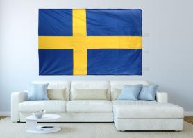 Большой флаг Швеции 140x210 см