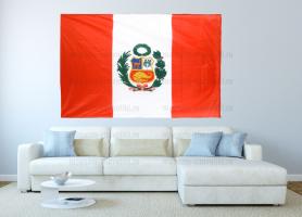 Большой флаг Перу 140x210 см