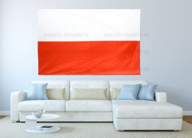 Большой флаг Польши 140x210 см