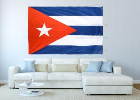 Большой флаг Кубы 140x210 см