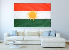 Большой флаг Курдистана 140x210 см