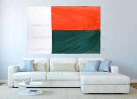 Большой флаг Мадагаскара 140x210 см