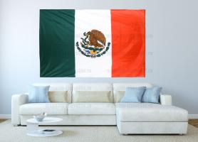 Большой флаг Мексики 140x210 см