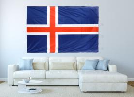 Большой флаг Исландии 140x210 см