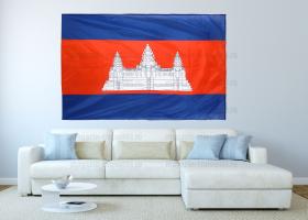 Большой флаг Камбоджи 140x210 см