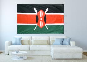 Большой флаг Кении 140x210 см