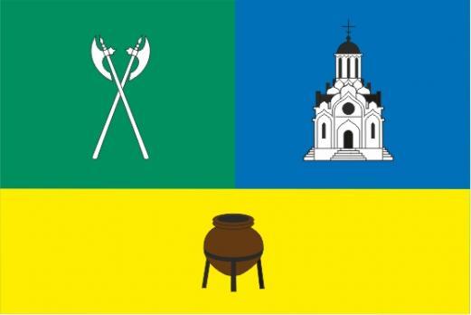 Флаг Таганского района(район г. Москвы, 2004г.)