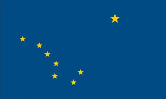 Флаг штата Аляска(США)