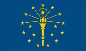 Флаг штата Индиана(США)