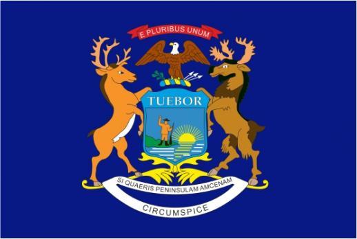 Флаг штата Мичиган(США)