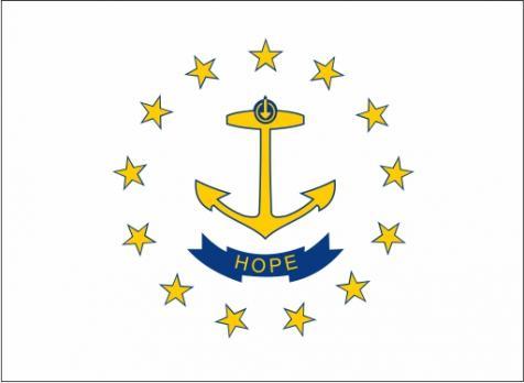 Флаг штата Род-Айленд(США)