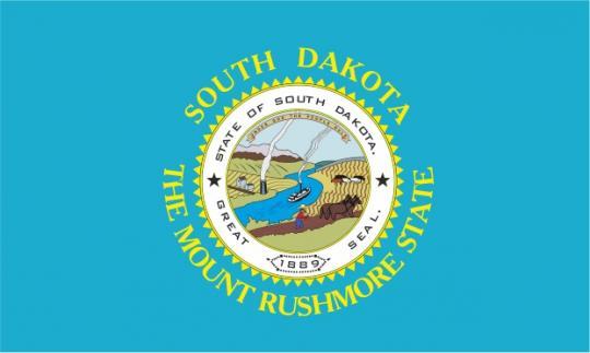 Флаг штата Южная Дакота(США)