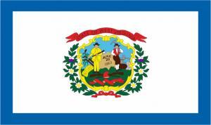 Флаг штата Западная Виргиния(США)