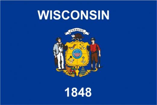 Флаг штата Висконсин(США)